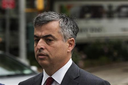 Eddy Cue, Apple's senior vice president of Internet Software and Services, arrives to testify in an antitrust trial brought against the company by the Department of Justice at Federal Court in New York, June 13, 2013. REUTERS/Lucas Jackson