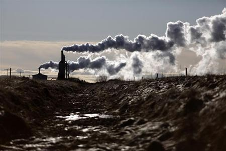 A small geothermal power plant is seen near the town of Laugarvatn in southwestern Iceland February 15, 2013. REUTERS/Stoyan Nenov