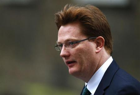 Britain's Chief Secretary to the Treasury Danny Alexander arrives for a cabinet meeting in Downing Street in central London, February 26, 2013. REUTERS/Andrew Winning