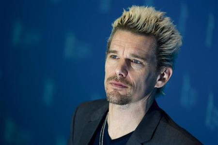 Cast member Ethan Hawke poses during a photocall to promote their movie 'Before Midnight' at the 63rd Berlinale International Film Festival in Berlin February 11, 2013. REUTERS/Thomas Peter