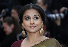 "Jury Member actress Vidya Balan poses on the red carpet as she arrives for the screening of the film ""Inside Llewyn Davis"" in competition during the 66th Cannes Film Festival in Cannes May 19, 2013. REUTERS/Eric Gaillard/FILE PHOTO"