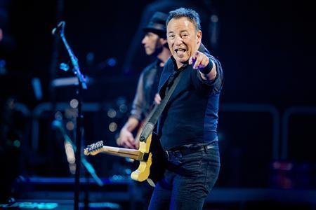 Singer Bruce Springsteen and the E-street band perform during their concert at Telenor Arena in Oslo in this picture provided by NTB Scanpix April 29, 2013. REUTERS/Stian Lysberg Solum/NTB Scanpix