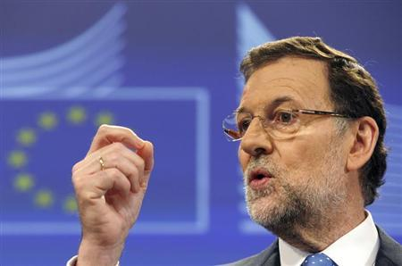 Spain's Prime Minister Mariano Rajoy attends a news conference at the European Commission in Brussels June 5, 2013. REUTERS/Laurent Dubrule