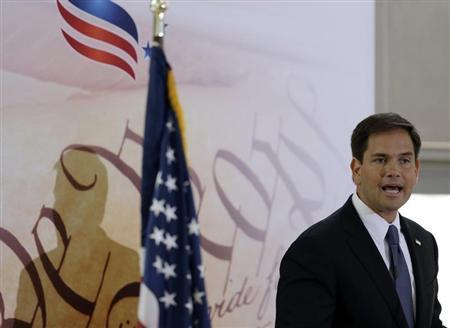Senator Marco Rubio (R-FL) addresses the Faith & Freedom Coalition Road to Majority Conference Kickoff Luncheon in Washington June 13, 2013. REUTERS/Gary Cameron
