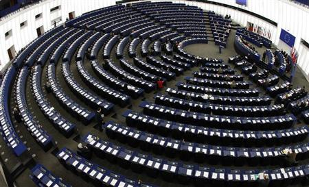 General view of the European Parliament's plenary room in Strasbourg March 11, 2009. REUTERS/Vincent Kessler