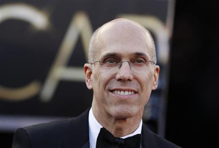 Dreamworks Animation president Jeffrey Katzenberg arrives at the 85th Academy Awards in Hollywood, California, February 24, 2013. REUTERS/Lucas Jackson