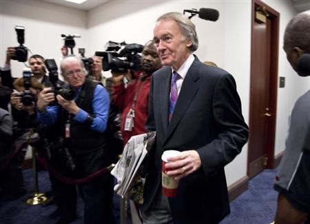 Congressman Ed Markey (D-MA) arrives to meet with House Democrats and U.S. Vice President Joseph Biden about a solution for the ''fiscal cliff'' on Capitol Hill in Washington January 1, 2013. REUTERS/Joshua Roberts