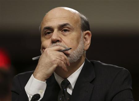 Federal Reserve Board Chairman Ben Bernanke testifies before the Joint Economic Committee in Washington in this May 22, 2013 file photo. REUTERS/Gary Cameron/File