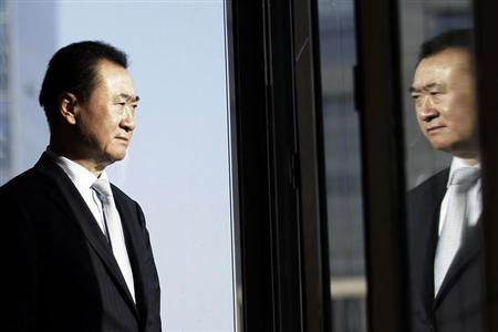 Wang Jianlin, chairman of Dalian Wanda Group, poses for a photo during an interview at his office in the company's headquarters in Beijing December 3, 2012. REUTERS/Suzie Wong