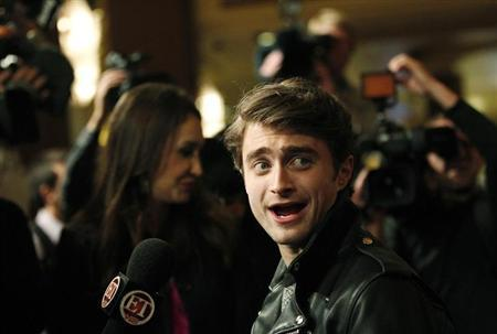 Cast member Daniel Radcliffe is interviewed at a special screening of ''The Woman in Black'' in Los Angeles, California February 2, 2012. REUTERS/Mario Anzuoni