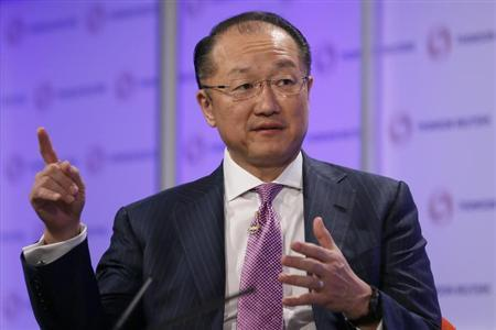 World Bank President Jim Yong Kim speaks at a Thomson Reuters Newsmaker event, at Canary Wharf in east London June 19, 2013. REUTERS/Stefan Wermuth
