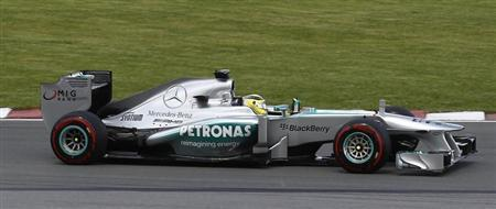 Mercedes Formula One driver Nico Rosberg of Germany drives during the Canadian F1 Grand Prix at the Circuit Gilles Villeneuve in Montreal June 9, 2013. REUTERS/Chris Wattie