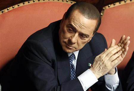 People of Freedom (PDL) party member and former Prime Minister Silvio Berlusconi attends the Upper house of the parliament in Rome, April 30, 2013. REUTERS/Giampiero Sposito