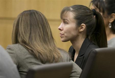 Jodi Arias listens as the verdict for sentencing is read for her first degree murder conviction at Maricopa County Superior Court in Phoenix, Arizona, May 23, 2013. REUTERS/David Wallace/The Arizona Republic/Pool