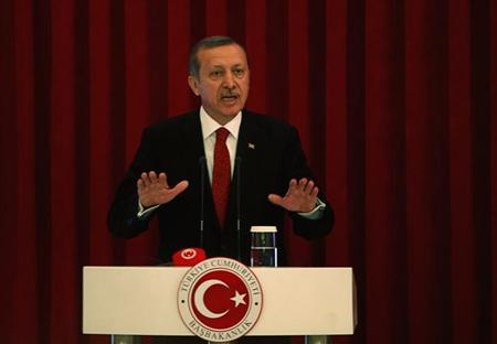 Turkey Prime Minister Tayyip Erdogan speaks during a conference in Ankara, June 18, 2013. REUTERS/Dado Ruvic