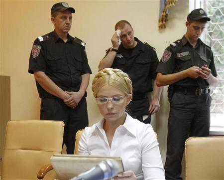 Former Ukrainian Prime Minister Yulia Tymoshenko attends a pre-trial hearing at a city court in Kiev June 25, 2011. REUTERS/Gleb Garanich