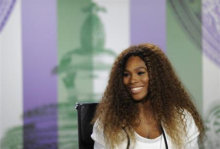Serena Williams of the U.S. speaks at a news conference the day before the start of the Wimbledon Tennis Championships, in London June 23, 2013. REUTERS/Jon Buckle/AELTC/Pool