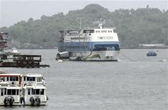 Casino Royale Goa, an off-shore casino on a ship, is pictured anchored on the Mandovi river which runs through Goa's capital Panaji, June 22, 2013. REUTERS/Stringer
