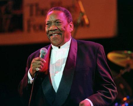 File photo of Blues singer Bobby ''Blue'' Bland, 68, originally from Rosemark, Tennessee, at the Blues Foundation fourth annual Lifetime Achievement Awards November 9, 1998 at the House of Blues in Hollywood. REUTERS