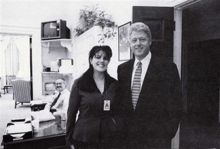 President Clinton poses with Monica Lewinsky in a Nov. 17, 1995 photo, that was released Sept. 21 by Independent Counsel Kenneth Starr as part of more than 3,000 pages of documents pertaining to the scandal. REUTERS