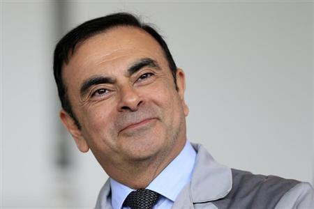 Carlos Ghosn, Chairman and CEO of the Renault-Nissan Alliance, attends a visit to the Renault automobile factory in Flins, west of Paris, May 28, 2013. REUTERS/Benoit Tessier
