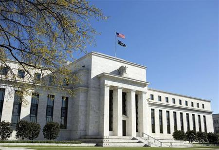 The Federal Reserve Building stands in Washington April 3, 2012. REUTERS/Joshua Roberts