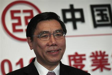 Industrial & Commercial Bank of China (ICBC) Chairman Jiang Jianqing attends a news conference announcing the bank's annual results in Hong Kong March 30, 2011. REUTERS/Tyrone Siu