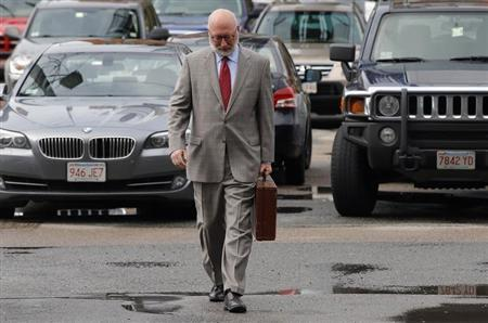 J.W. Carney, defense attorney for accused mob boss James ''Whitey'' Bulger, arrives at the U.S. Federal Courthouse for the start of Bulger's trial in Boston, Massachusetts June 12, 2013. REUTERS/Brian Snyder