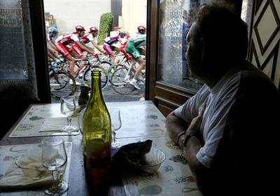 Tour de France starts and ends at the table