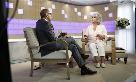 Matt Lauer interviews Paula Deen (R) on NBC News' ''Today'' show in this handout released to Reuters on June 26, 2013 by NBC NewsWire. U.S. celebrity chef Paula Deen, who had admitted in a lawsuit that she had used a racial slur, said on Wednesday that she is not a racist and would never intentionally hurt anyone. Mandatory Credit: REUTERS/Peter Kramer/NBC/NBC NewsWire/Handout via Reuters