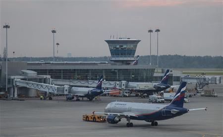 Aeroflot planes are seen at Moscow's Sheremetyevo airport June 26, 2013. REUTERS/Stringer