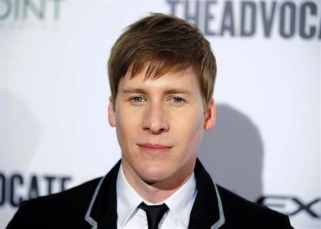 Screenwriter Dustin Lance Black arrives at ''The Advocate 45th'', celebrating the magazine's 45 years of publication in Beverly Hills, California March 29, 2012. REUTERS/Gus Ruelas