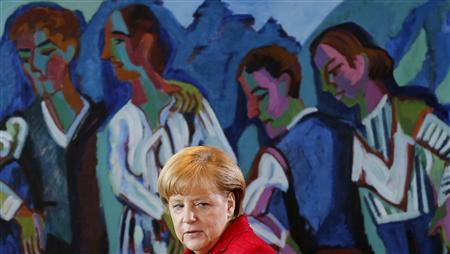 German Chancellor Angela Merkel arrives for the weekly cabinet meeting in Berlin June 26, 2013. REUTERS/Tobias Schwarz