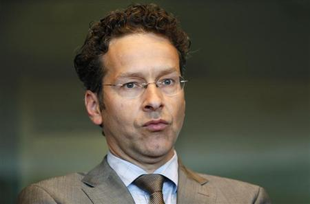 Eurogroup chairman Jeroen Dijsselbloem waits to address the European Parliament's Economic and Monetary Affairs committee to discuss the way in which assistance to member states has been conducted, particularly Cyprus, in Brussels May 7, 2013. REUTERS/Francois Lenoir