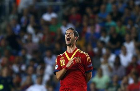 Isco of Spain reacts during their UEFA European Under-21 Championship soccer match against Germany at Netanya Municipal Stadium in Netanya June 9, 2013. REUTERS/Nir Elias