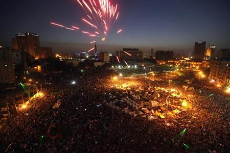 Cairo's Tahrir bursts into life after months of quiet