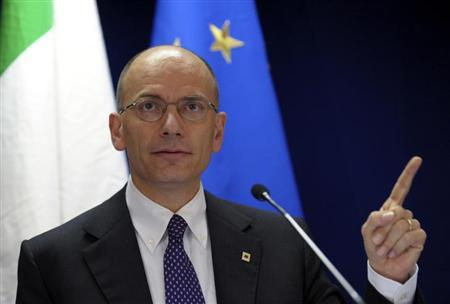 Italy's Prime Minister Enrico Letta addresses a news conference during a European Union leaders summit in Brussels June 28, 2013. REUTERS/Laurent Dubrule