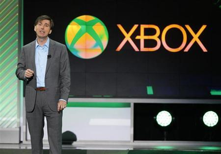 Don Mattrick, President of Microsoft's Interactive Entertainment Business, speaks during the Xbox E3 Media Briefing at USC's Galen Center in Los Angeles, California June 10, 2013. REUTERS/Mario Anzuoni