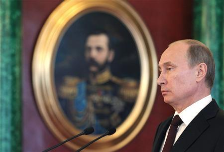 Russia's President Vladimir Putin attends a news conference, part of the Gas Exporting Countries Forum (GECF), at the Kremlin in Moscow, July 1, 2013. REUTERS/Mikhail Klimentyev/RIA Novosti/Kremlin