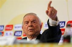 O presidente da CBF, José Maria Marin, concede entrevista no Rio de Janeiro nesta segunda-feira. REUTERS/Sergio Moraes