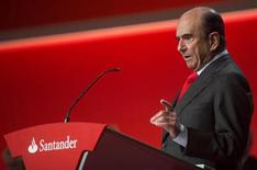 Spain's Santander chairman Emilio Botin gestures as he attends the company's annual shareholders meeting in Santander, northern Spain, March 22, 2013. REUTERS/Nacho Cubero