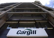 A logo is pictured on the building of Cargill International SA in Geneva August 4, 2009. REUTERS/Denis Balibouse