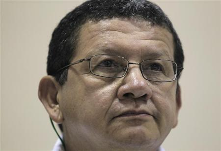 FARC negotiator Pablo Catatumbo attends a conference in Havana May 26, 2013. REUTERS/Enrique De La Osa