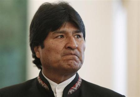 Bolivia's President Evo Morales looks on before attending the Gas Exporting Countries Forum (GECF) at the Kremlin in Moscow, July 1, 2013. REUTERS/Maxim Shemetov