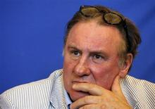 Actor Gerard Depardieu attends a news conference to present the 1st edition of a Russian Film Festival in Nice June 6, 2013. REUTERS/Eric Gaillard