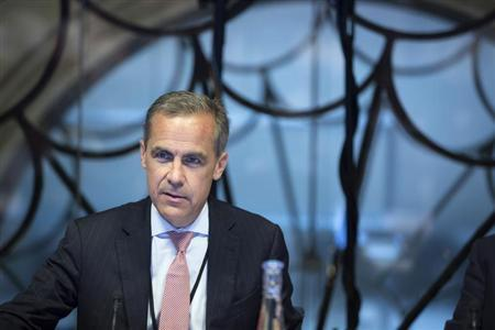 Mark Carney, the governor of the Bank of England, attends a monetary policy committee (MPC) briefing on his first day at the central bank's headquarters in London July 1, 2013. REUTERS/Jason Alden/pool