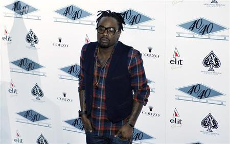 Rapper Wale attends the re-opening of 40/40 Club in New York January 18, 2012. REUTERS/Eduardo Munoz
