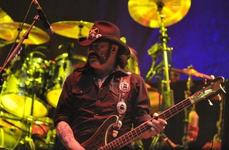 Lemmy Kilmister, bassist of Motorhead, performs during the annual heavy metal music open-air festival in the northern German village of Wacken, near Hamburg August 6, 2011. REUTERS/Morris Mac Matzen