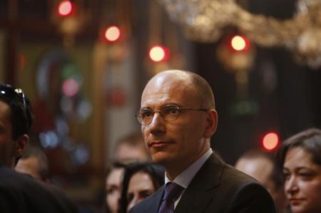 Italy's Prime Minister Enrico Letta visits the Church of the Nativity, revered as the site of Jesus' birth, in the West Bank town of Bethlehem July 2, 2013. REUTERS/Mohamad Torokman