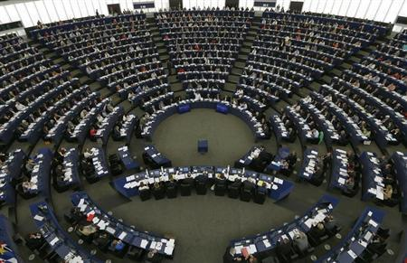 Members of the European Parliament take part in a voting session at the European Parliament in Strasbourg, July 3, 2013. REUTERS/Vincent Kessler